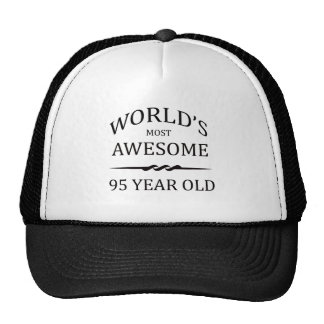 World's Most Awesome 95 Year Old Trucker Hats
