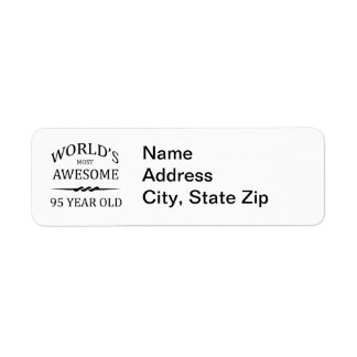 World's Most Awesome 95 Year Old Return Address Label