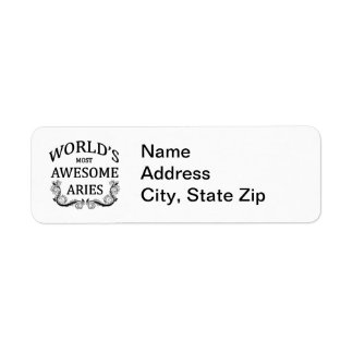 World's Most Awesome Aries Return Address Label