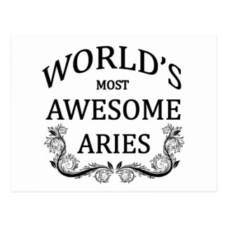 World's Most Awesome Aries Postcard