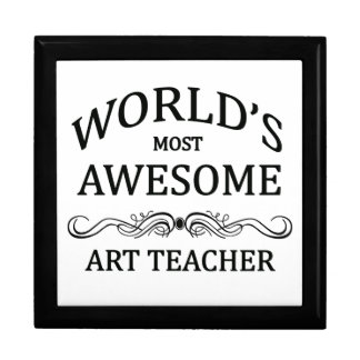 World's Most Awesome Art Teacher Gift Box