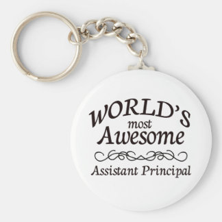 World's Most Awesome Assistant Principal Basic Round Button Key Ring