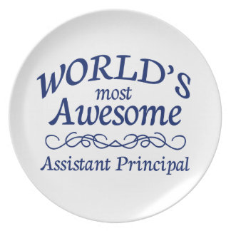 World's Most Awesome Assistant Principal Plate