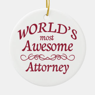 World's Most Awesome Attorney Christmas Ornament