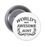 World's Most Awesome Aunt Pins