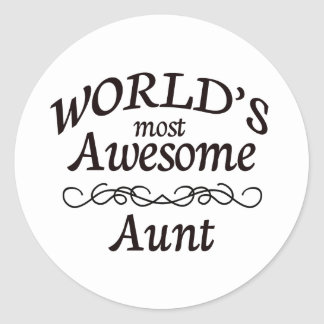 World's Most Awesome Aunt Round Sticker