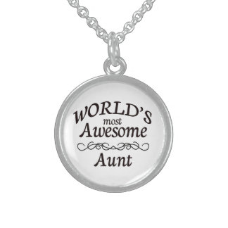 World's Most Awesome Aunt Sterling Silver Necklace