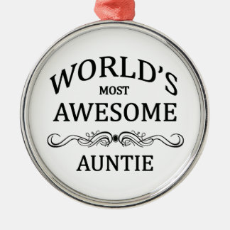 World's Most Awesome Auntie Christmas Ornament