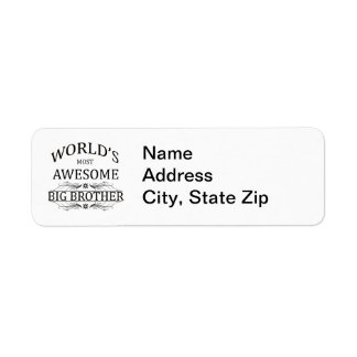 World's Most Awesome Big Brother Return Address Label