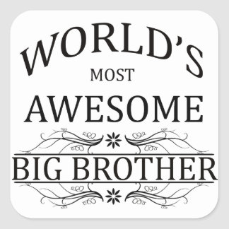 World's Most Awesome Big Brother Square Sticker
