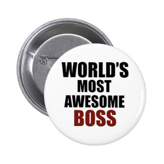 World's most awesome Boss 6 Cm Round Badge
