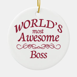World's Most Awesome Boss Christmas Ornament
