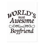 World's Most Awesome Boyfriend Postcards