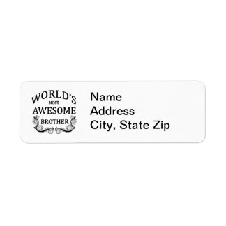World's Most Awesome Brother Return Address Label