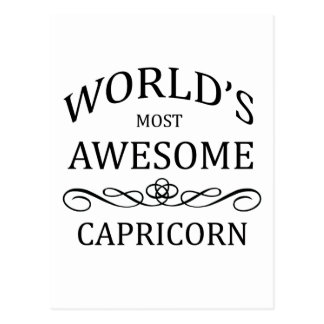 World's Most Awesome Capricorn Postcard