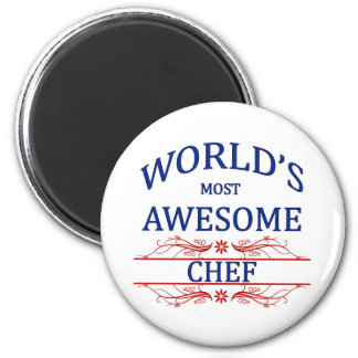 World's Most Awesome Chef 6 Cm Round Magnet