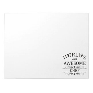 World's Most Awesome Chef Notepad