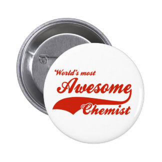 World's Most Awesome chemist 6 Cm Round Badge