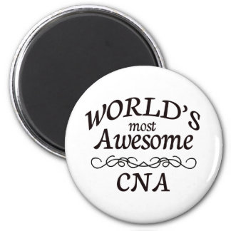 World's Most Awesome CNA 6 Cm Round Magnet