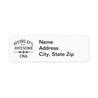 World's Most Awesome CNA Return Address Label