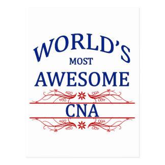 World's Most Awesome CNA Postcard