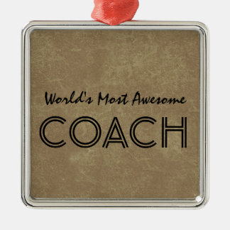 Worlds Most Awesome Coach Tan Custom Gift Item Christmas Ornament