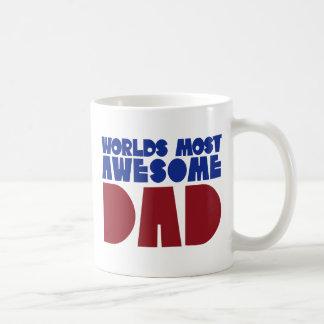 Worlds most awesome Dad Basic White Mug