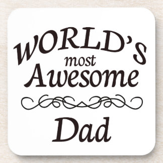 World's Most Awesome Dad Coasters