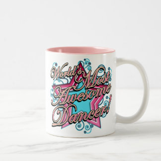 Worlds Most Awesome Dancer Two-Tone Mug