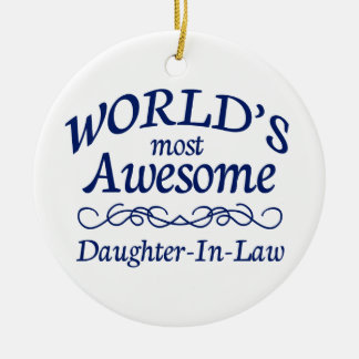 World's Most Awesome Daughter-In-Law Christmas Ornament