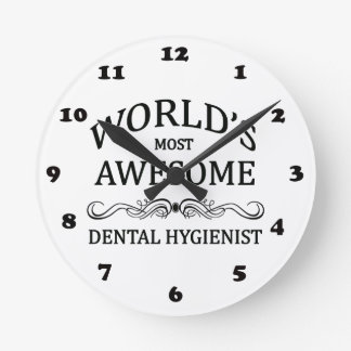 World's Most Awesome Dental Hygienist Wallclock