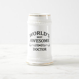 World's Most Awesome Doctor Beer Stein