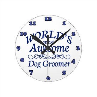 World's Most Awesome Dog Groomer Wallclocks