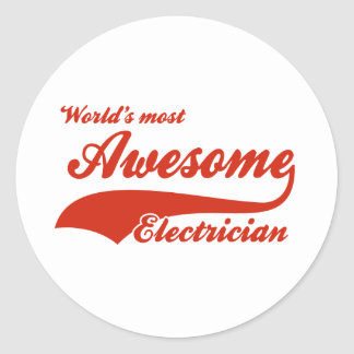 World's Most Awesome electrician Classic Round Sticker