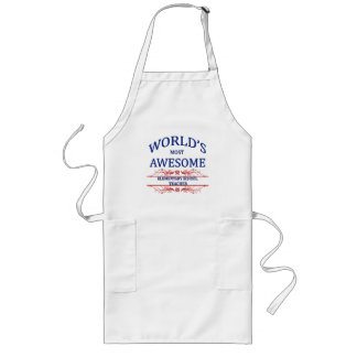 World's Most Awesome Elementary School Teacher Long Apron