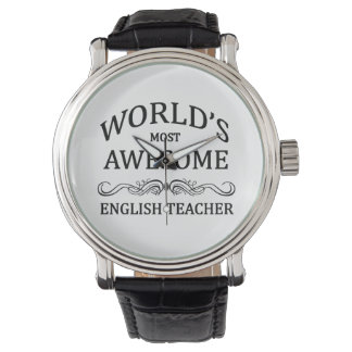World's Most Awesome English Teacher Wristwatch