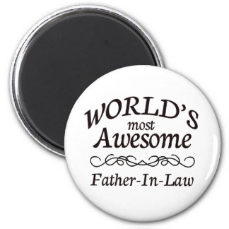 World's Most Awesome Father-In-Law 6 Cm Round Magnet