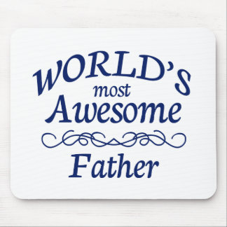 World's Most Awesome Father Mouse Pad
