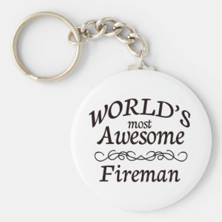 World's Most Awesome Fireman Key Ring