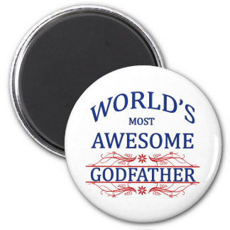 World's Most Awesome Godfather 6 Cm Round Magnet