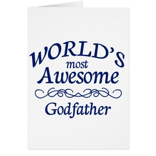 World's Most Awesome Godfather Cards