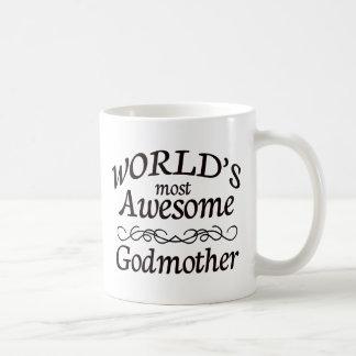 World's Most Awesome Godmother Basic White Mug