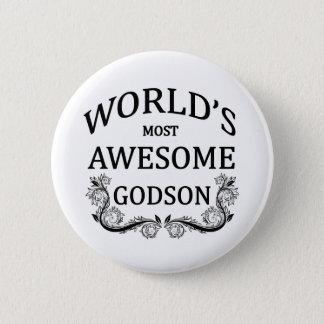 World's Most Awesome Godson 6 Cm Round Badge