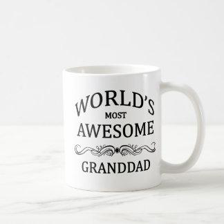 World's Most Awesome Granddad Basic White Mug