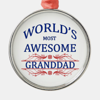 World's Most Awesome Granddad Christmas Ornament