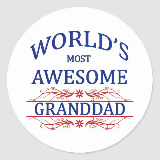 World's Most Awesome Granddad Stickers