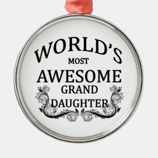 World's Most Awesome Granddaughter Christmas Ornament