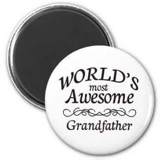 World's Most Awesome Grandfather 6 Cm Round Magnet