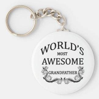 World's Most Awesome Grandfather Key Ring
