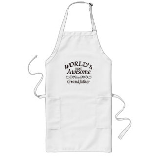 World's Most Awesome Grandfather Long Apron